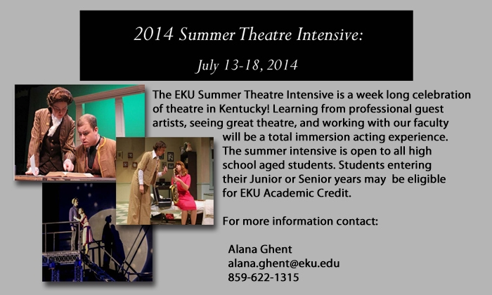 EKU Summer Theatre Intensive
