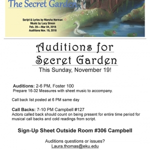 Auditions for Secret Garden